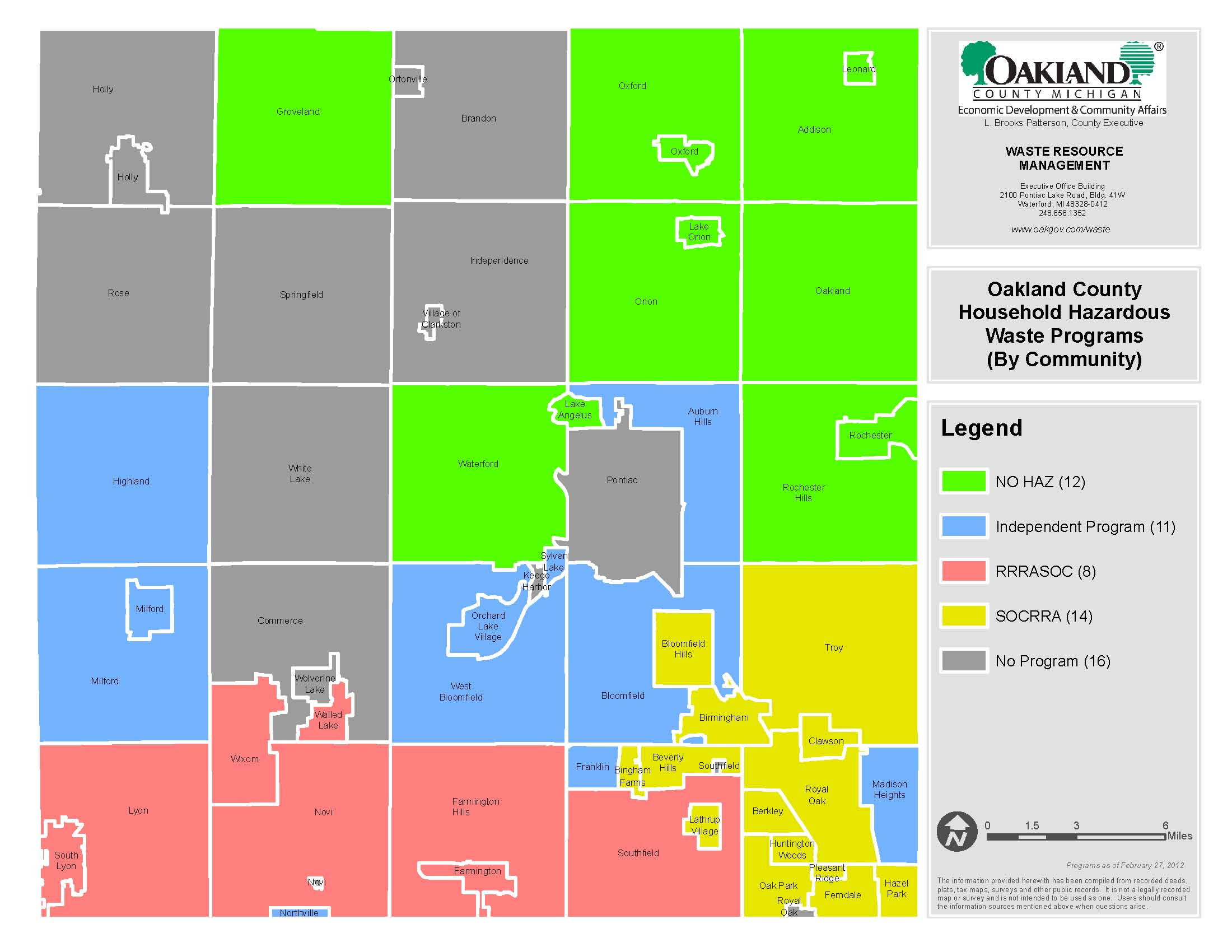 Oakland County Map Gallery