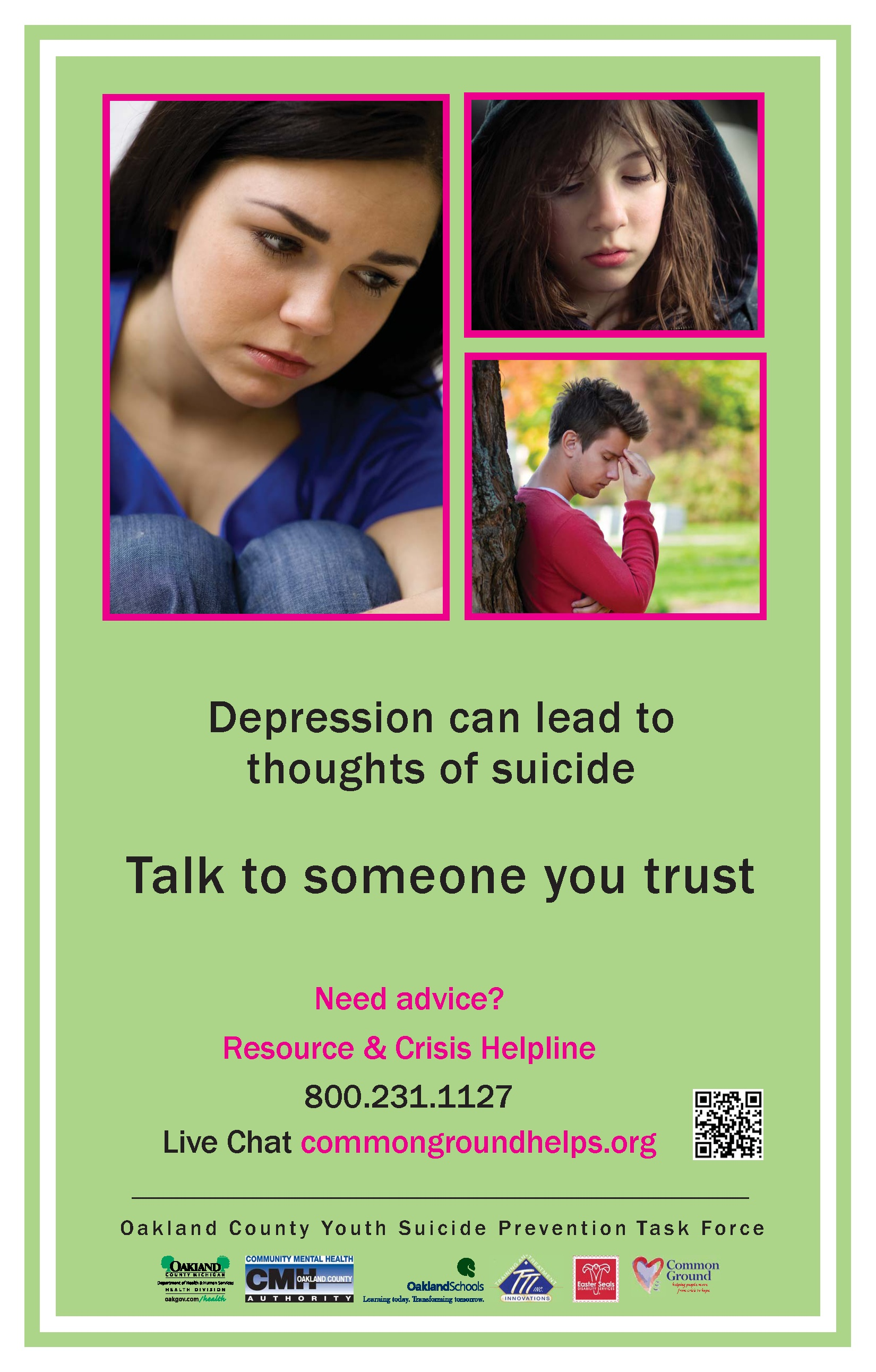 National Helpline Samhsa Substance Abuse And Mental Health >> Oakland County takes action to prevent suicide