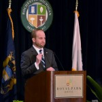 Mayor Jeffrey T. Cuthbertson Monday at the 2015 State of City Rochester Address - photo by Michael Dwyer