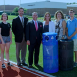 Pictured: Connor McDevitt, Zoe Garden, Principal Kevin Cumming, Mayor Bryan Barnett, Joan Dallapiazza, Lisa VanOphem, Joey Dallapiazza and Mason VanOphem. Not pictured: Kathy McDevitt. Photos by Gugel Photography.