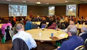 Author Bonnie Jo Campbell, Keynote Speaker, discusses The Story Within at the 2015 Rochester Writers' Conference - photo by Michael Dwyer