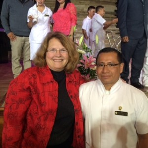 Rochester Rotary - Linda Eastman with Mateo Nicolas Domingo at his graduation  Photo courtesy of Rochester Rotary