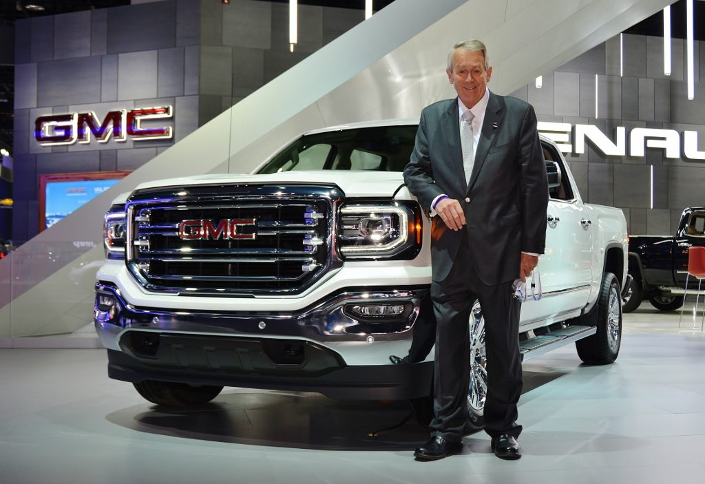 Photo of Russ Shelton and a new GMC truck