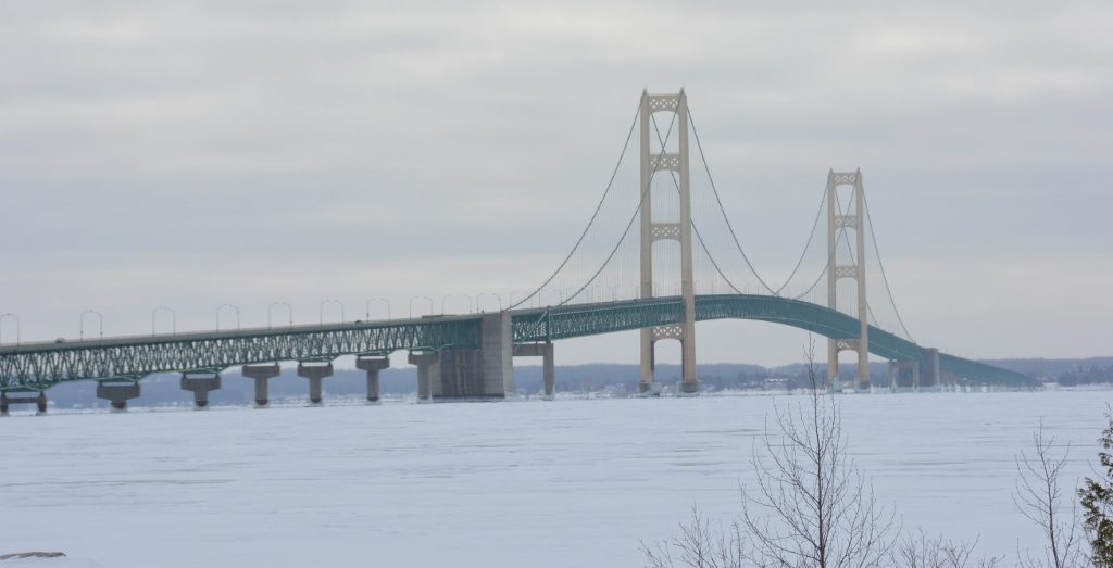 Winter view of the bridge