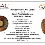 Detroit Area Woodturners 2017 Gallery Exhibit Includes Two Rochester Hills Artists